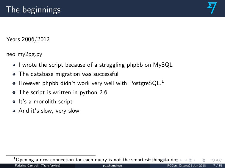 The beginnings Years 2006/2012 neo my2pg.py I w...