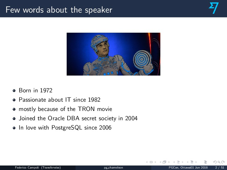 Few words about the speaker Born in 1972 Passio...