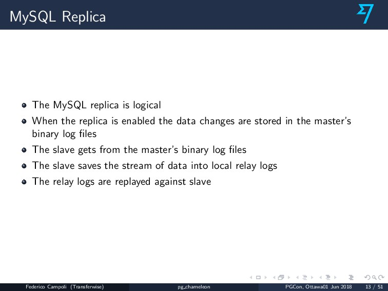 MySQL Replica The MySQL replica is logical When...