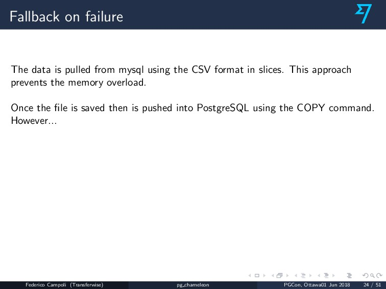Fallback on failure The data is pulled from mys...