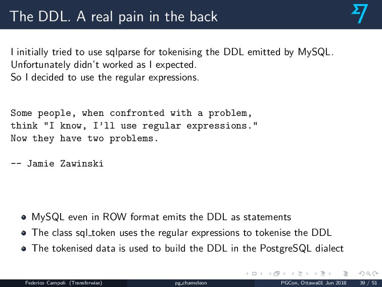 The DDL. A real pain in the back I initially tr...