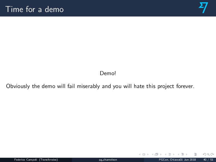 Time for a demo Demo! Obviously the demo will f...