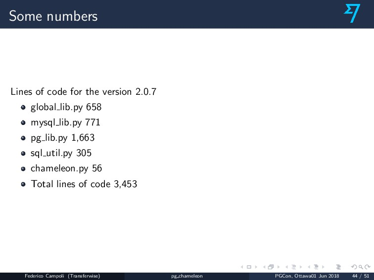 Some numbers Lines of code for the version 2.0....