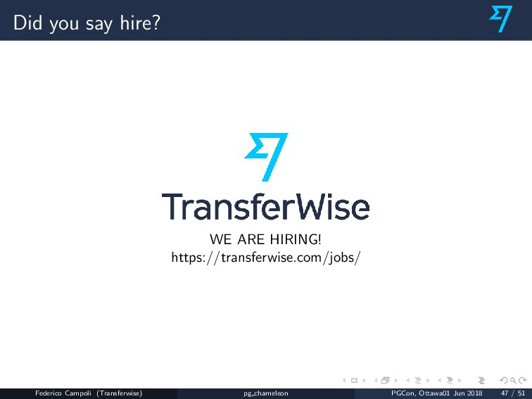 Did you say hire? WE ARE HIRING! https://transf...