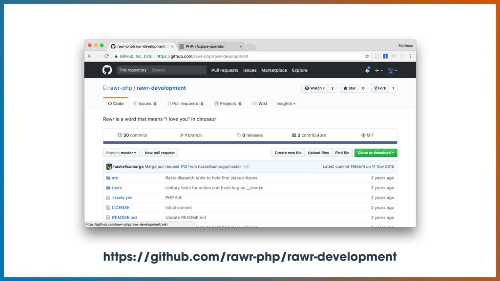 https://github.com/rawr-php/rawr-development