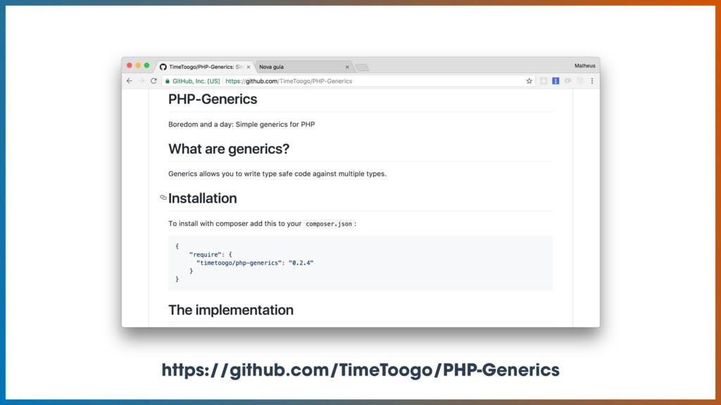 https://github.com/TimeToogo/PHP-Generics