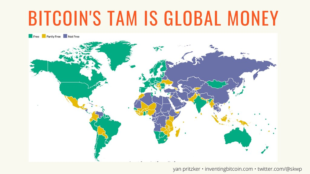 BITCOIN'S TAM IS GLOBAL MONEY yan pritzker • in...