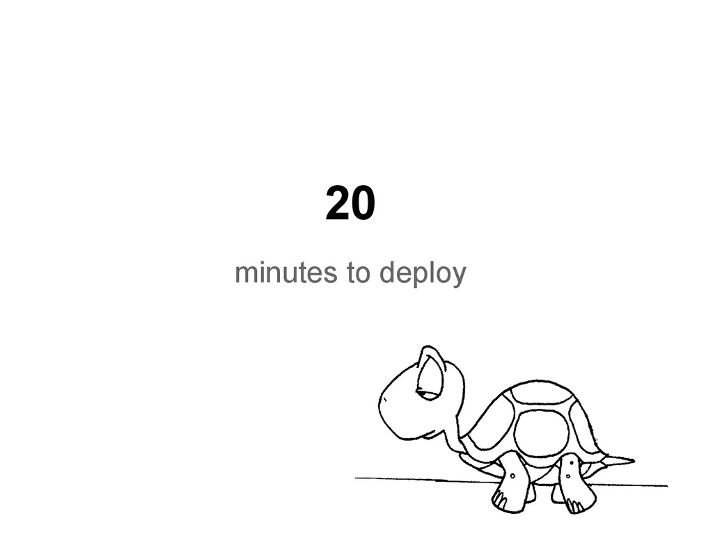 20 minutes to deploy