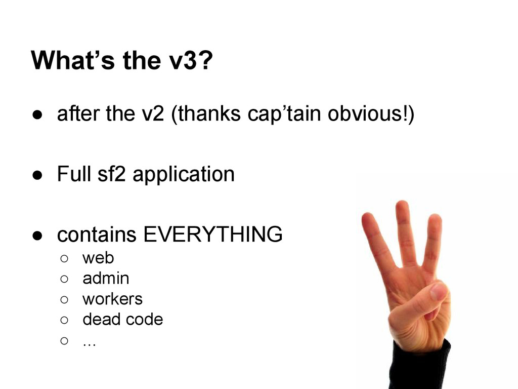 What's the v3? ● after the v2 (thanks cap'tain ...