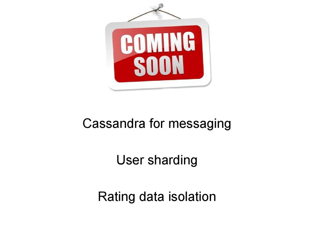 Cassandra for messaging User sharding Rating da...