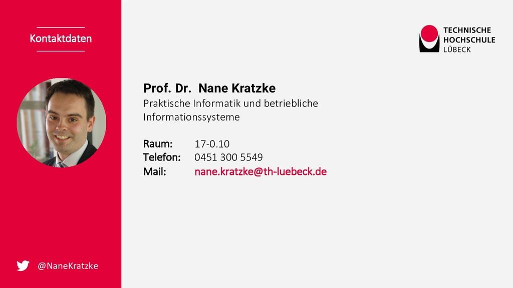 Prof. Dr. Nane Kratzke Praktische Informatik un...