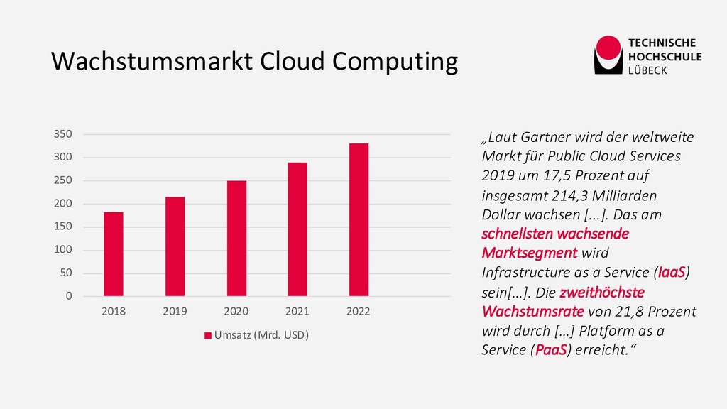 "Wachstumsmarkt Cloud Computing ""Laut Gartner wi..."