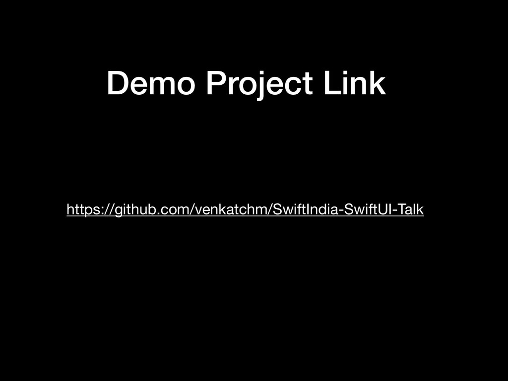 Demo Project Link https://github.com/venkatchm/...
