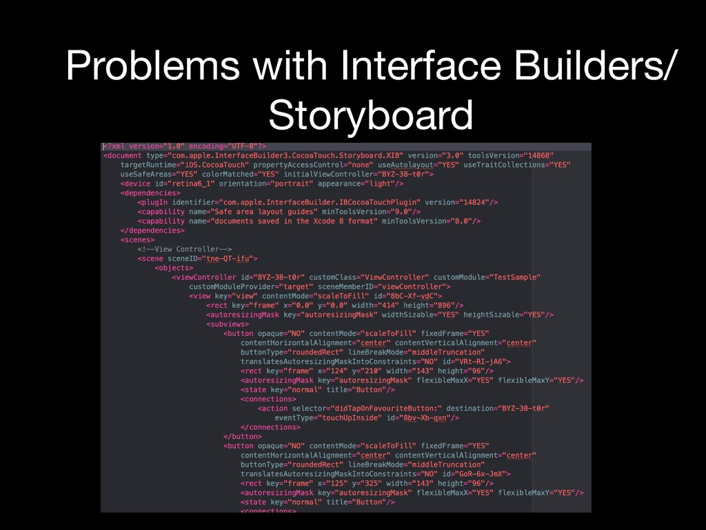 Problems with Interface Builders/ Storyboard