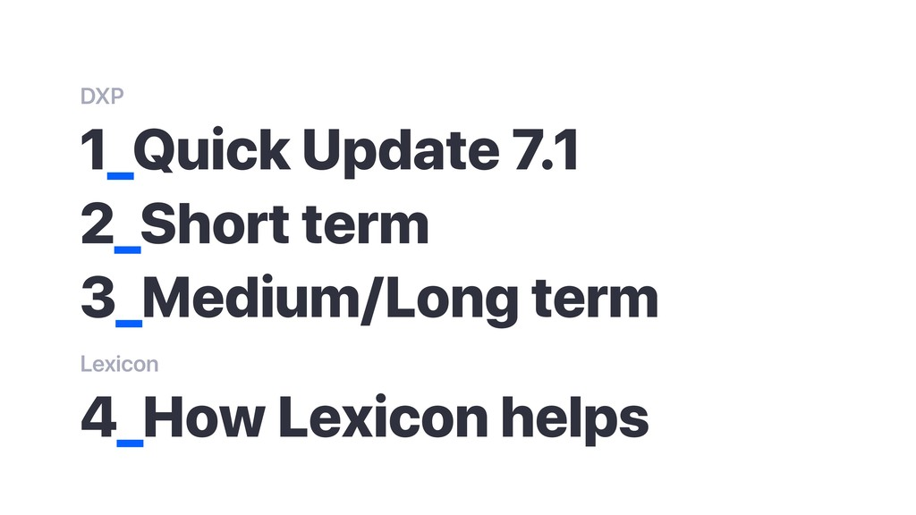 1_Quick Update 7.1 2_Short term 3_Medium/Long t...