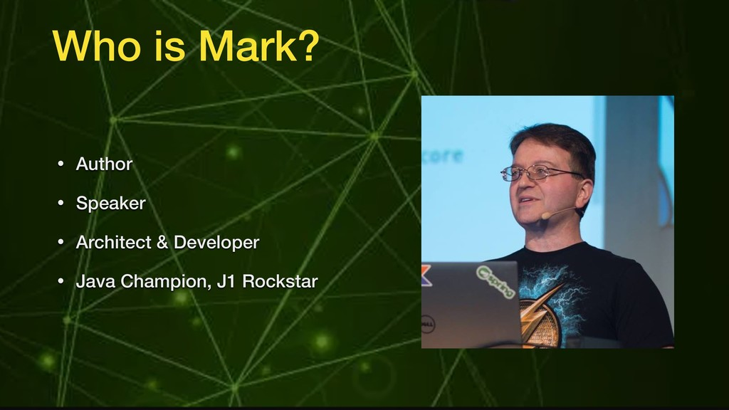 Who is Mark? • Author • Speaker • Architect & D...