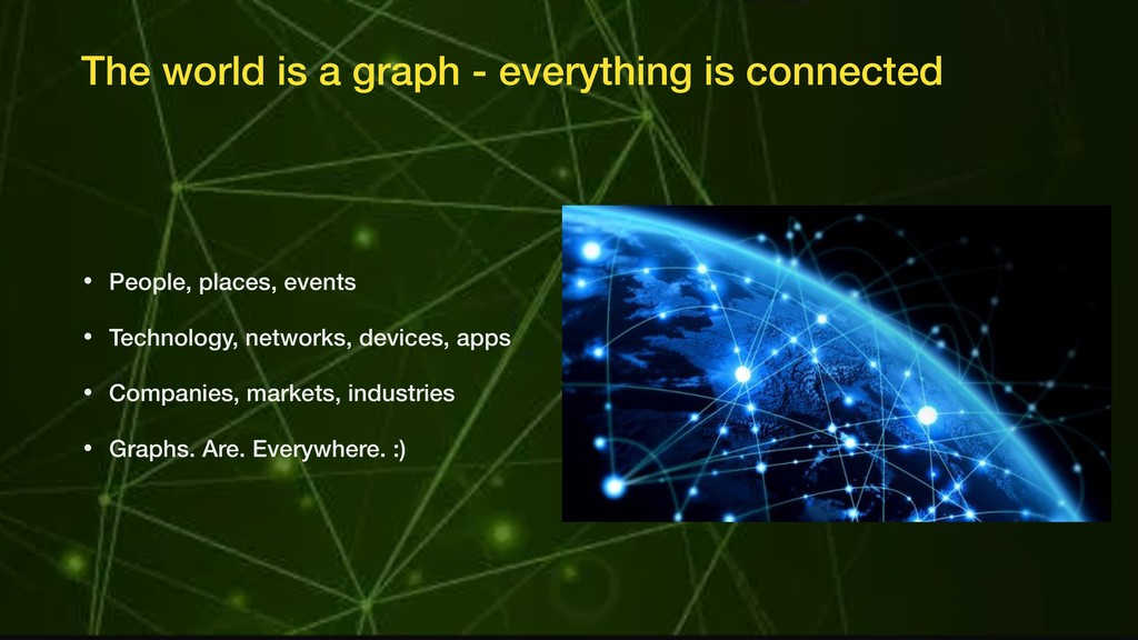 The world is a graph - everything is connected ...