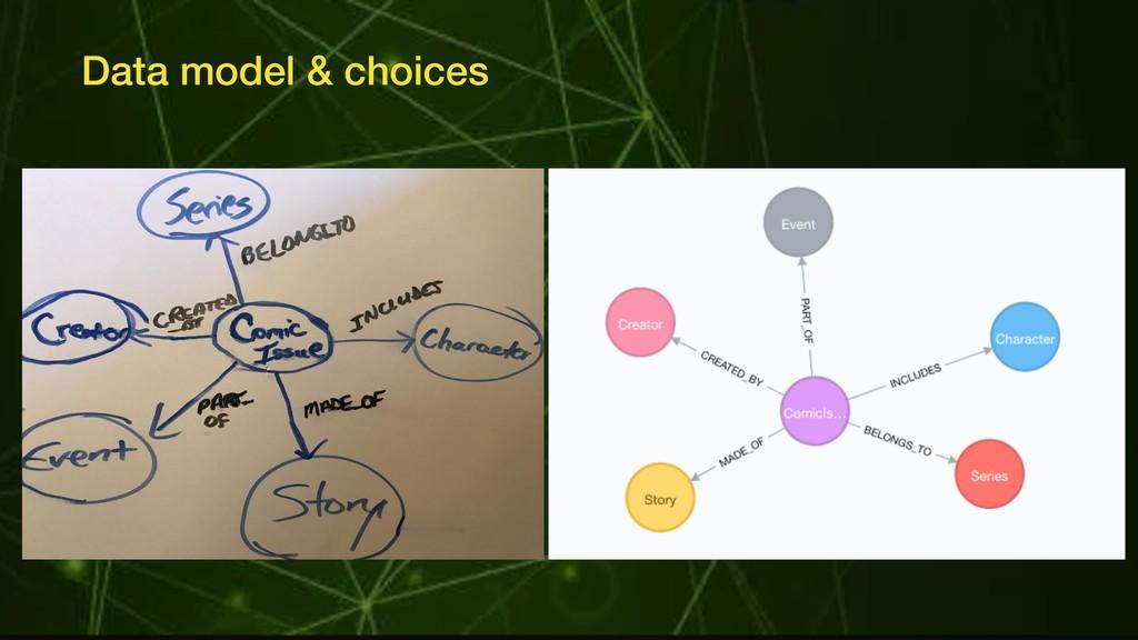 Data model & choices