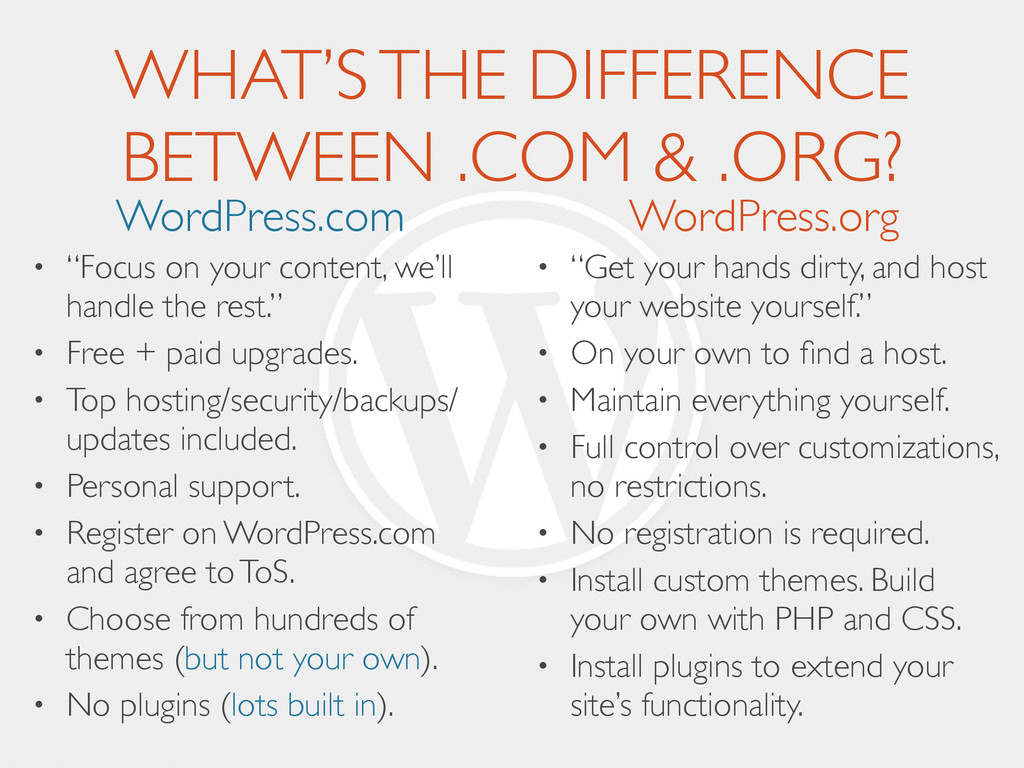 "• ""Get your hands dirty, and host your website ..."