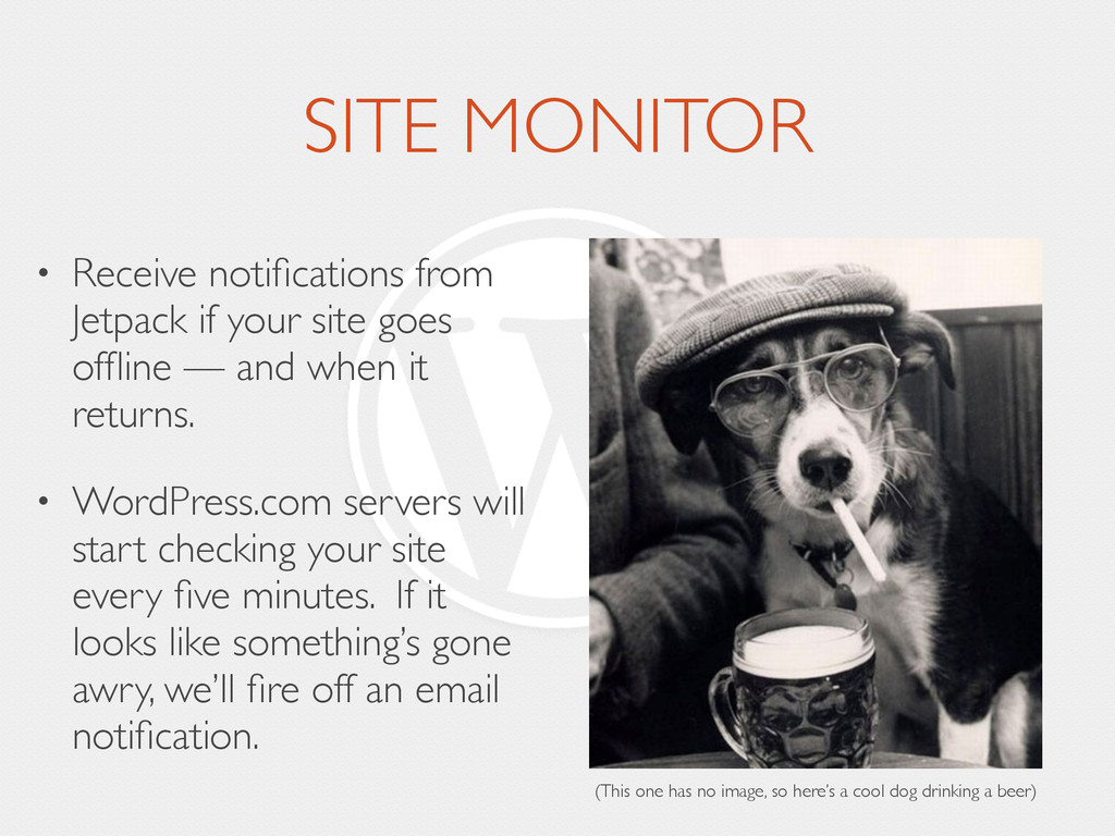 SITE MONITOR • Receive notifications from Jetpac...