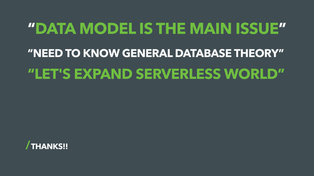 """""""DATA MODEL IS THE MAIN ISSUE"""" THANKS!! """"NEED T..."""