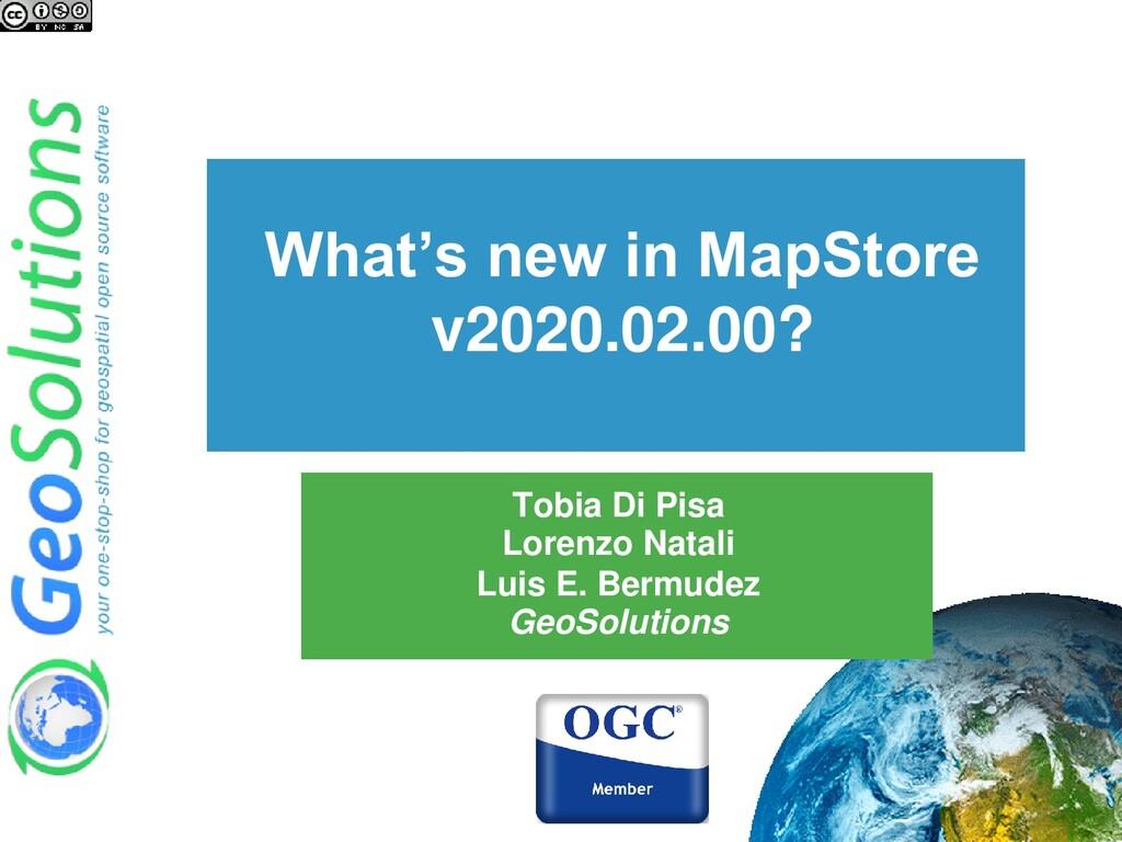 What's new in MapStore v2020.02.00? Tobia Di Pi...