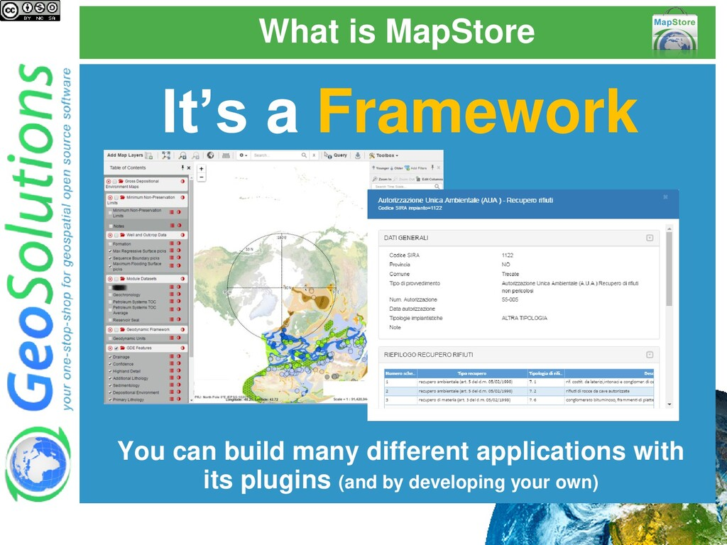 What is MapStore It's a Framework You can build...