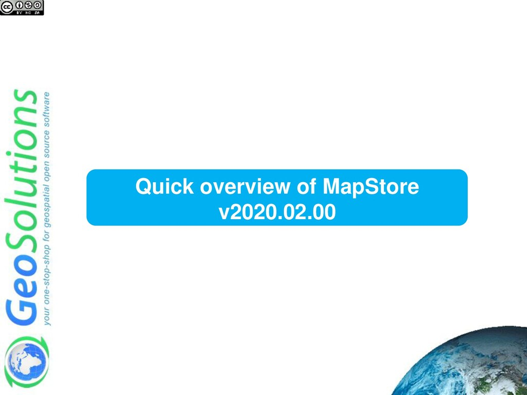 Quick overview of MapStore v2020.02.00