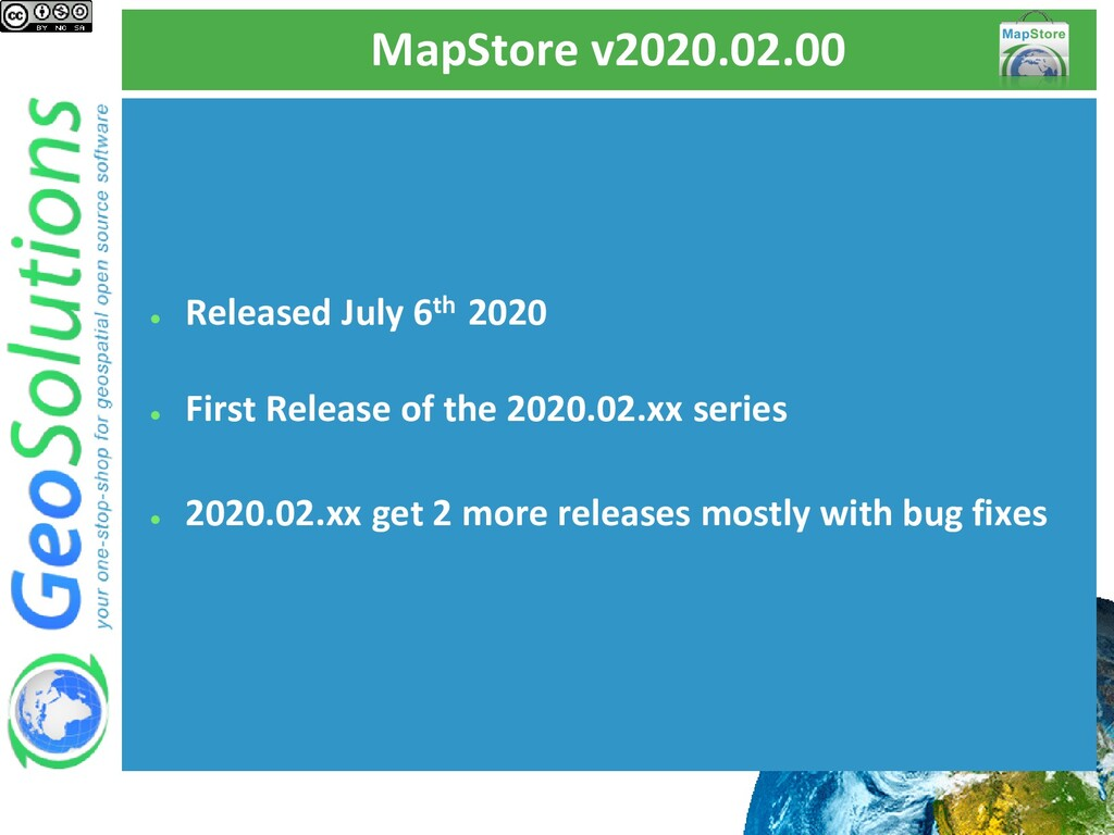MapStore v2020.02.00 ● Released July 6th 2020 ●...