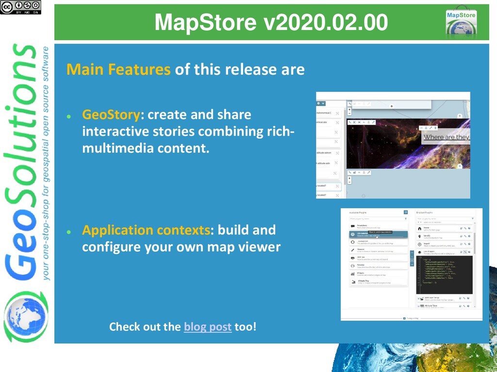 MapStore v2020.02.00 Main Features of this rele...
