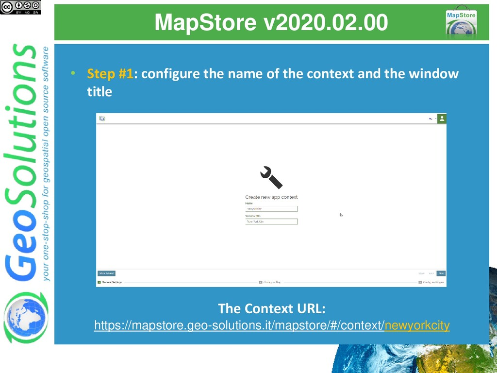 MapStore v2020.02.00 • Step #1: configure the n...