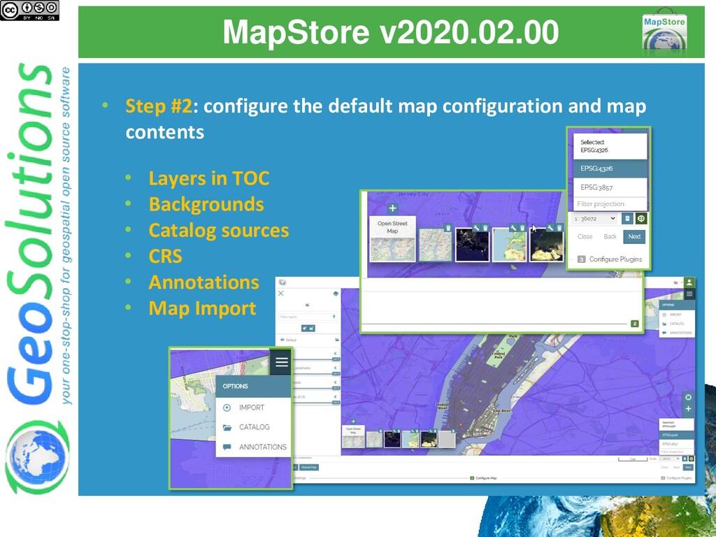 MapStore v2020.02.00 • Step #2: configure the d...