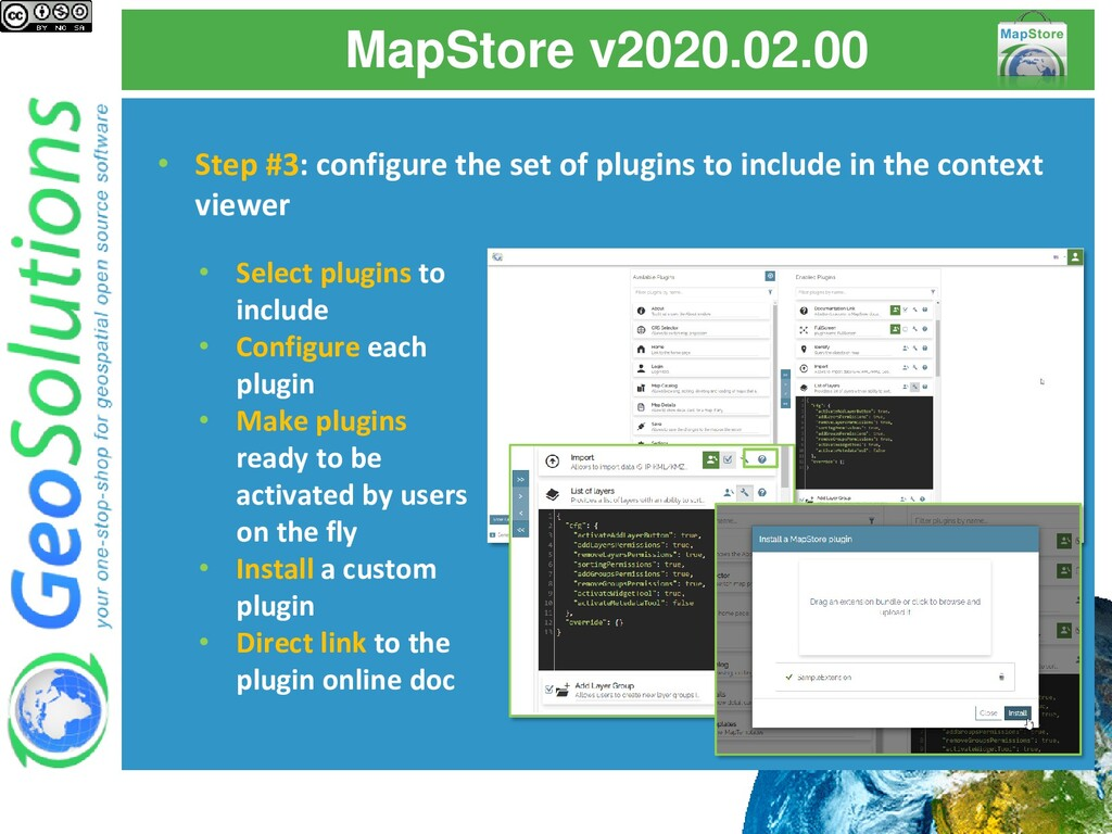 MapStore v2020.02.00 • Step #3: configure the s...