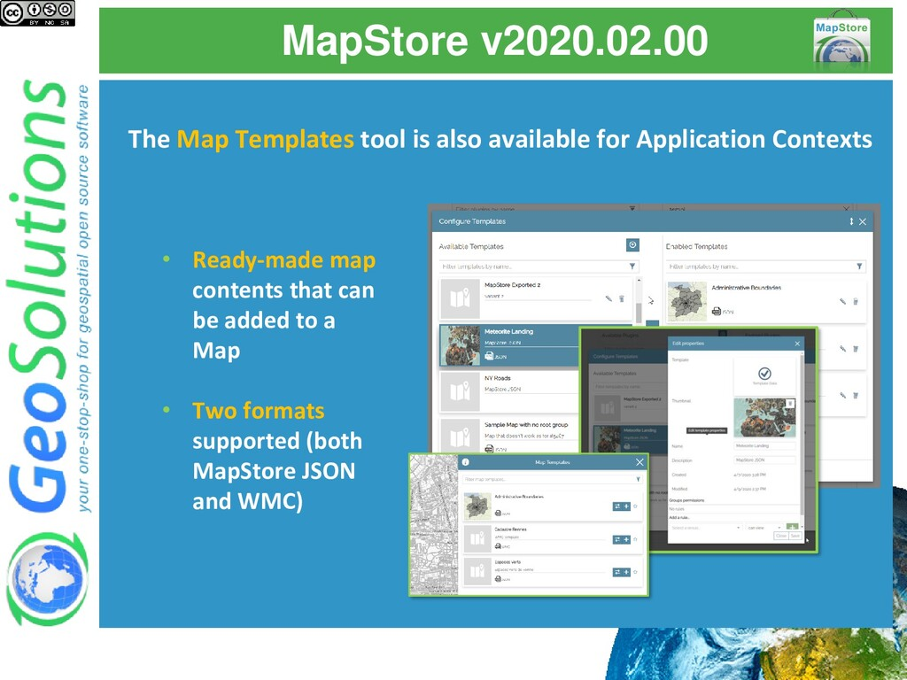 MapStore v2020.02.00 The Map Templates tool is ...