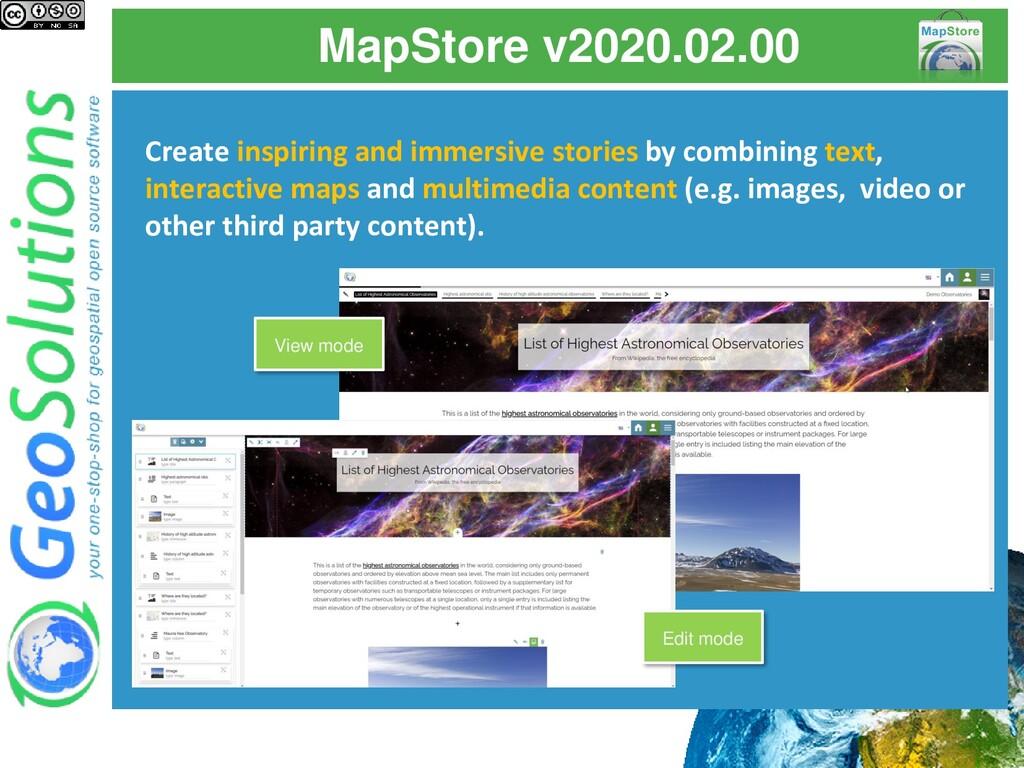 MapStore v2020.02.00 Create inspiring and immer...