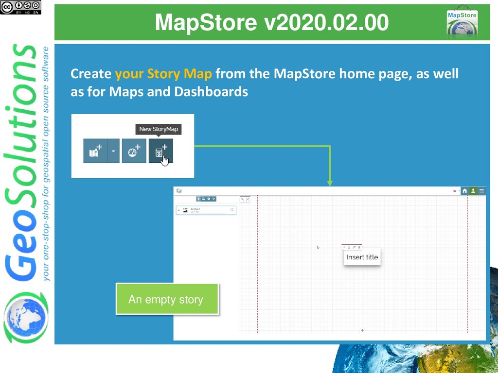 MapStore v2020.02.00 Create your Story Map from...