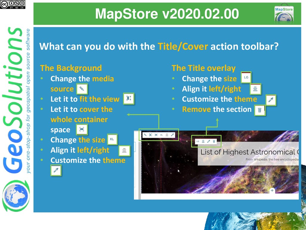 MapStore v2020.02.00 What can you do with the T...