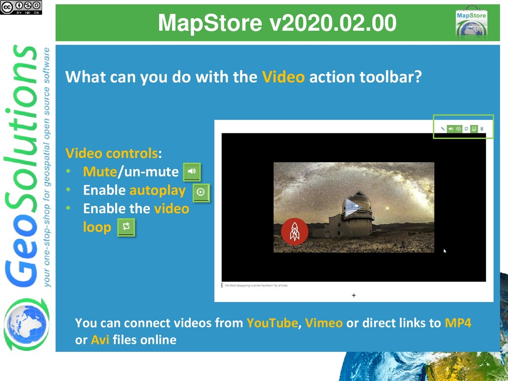 MapStore v2020.02.00 What can you do with the V...