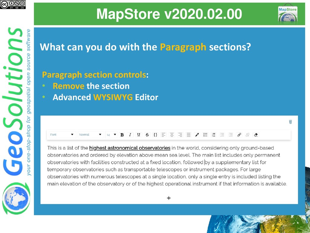 MapStore v2020.02.00 What can you do with the P...