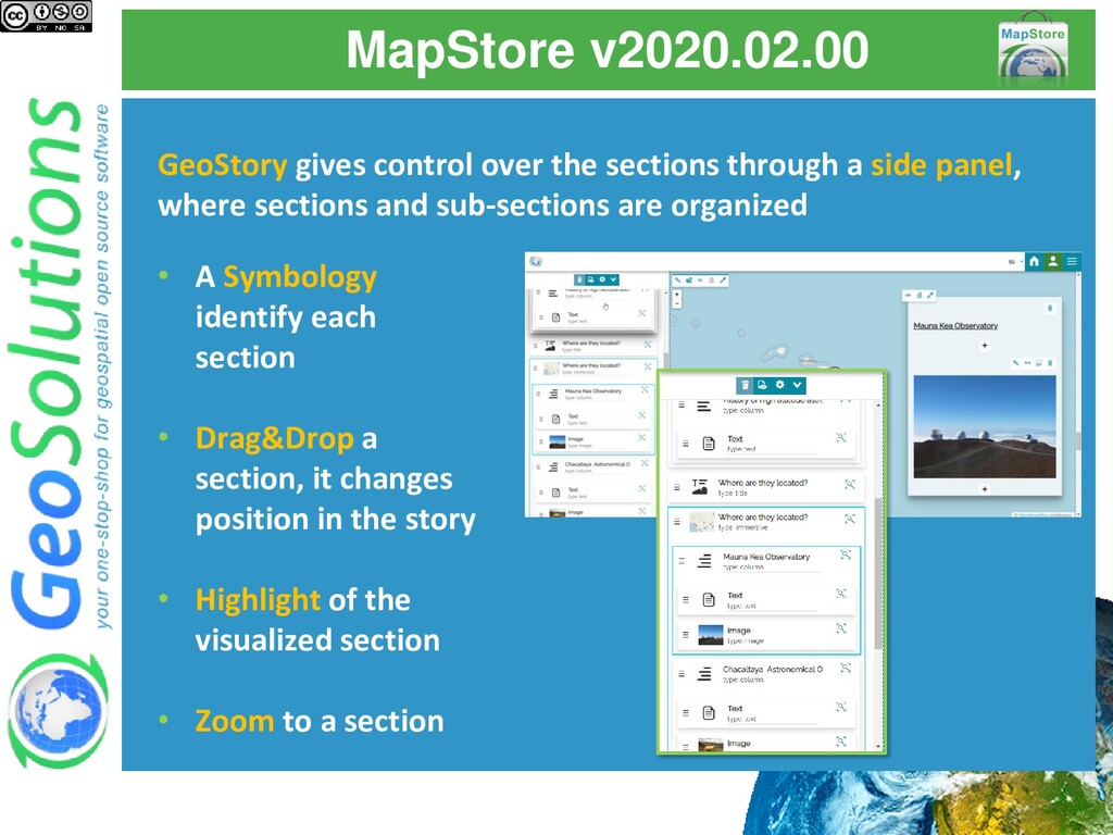 MapStore v2020.02.00 GeoStory gives control ove...