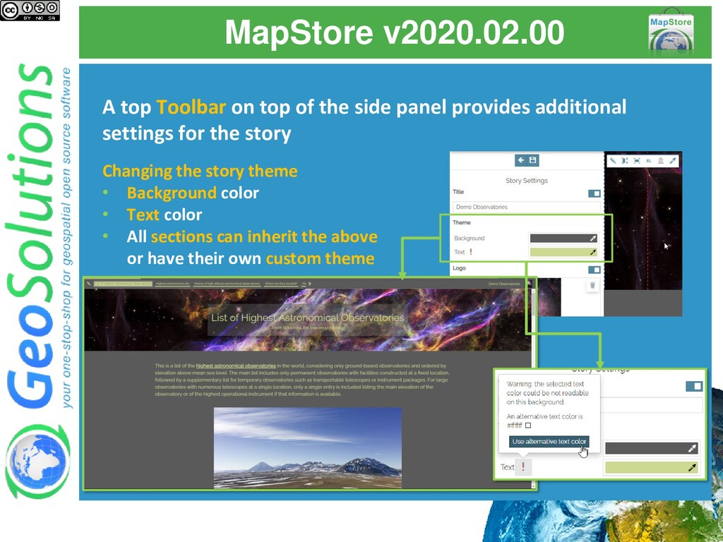 MapStore v2020.02.00 A top Toolbar on top of th...