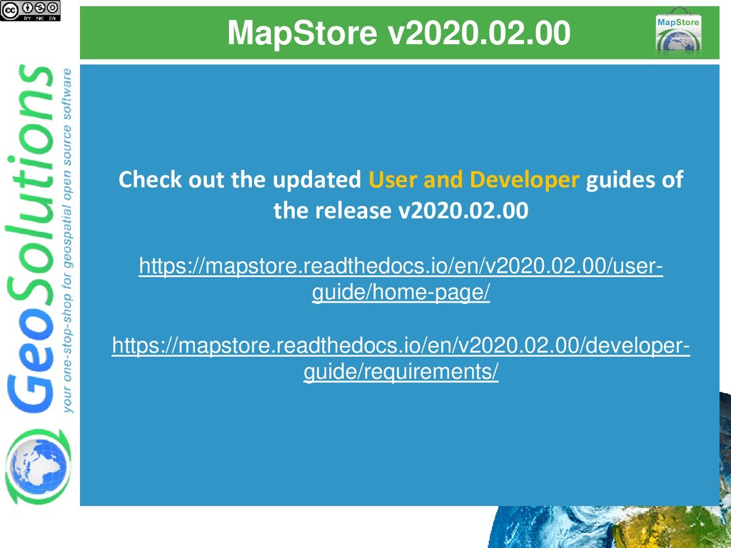 MapStore v2020.02.00 Check out the updated User...