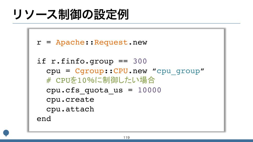 Ϧιʔε੍ޚͷઃఆྫ r = Apache::Request.new if r.finfo.g...