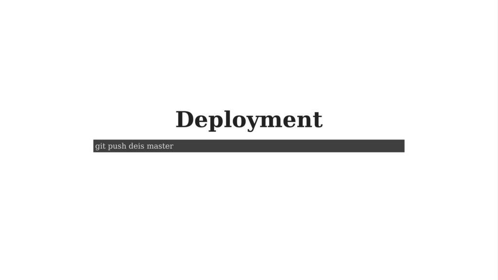 Deployment git push deis master