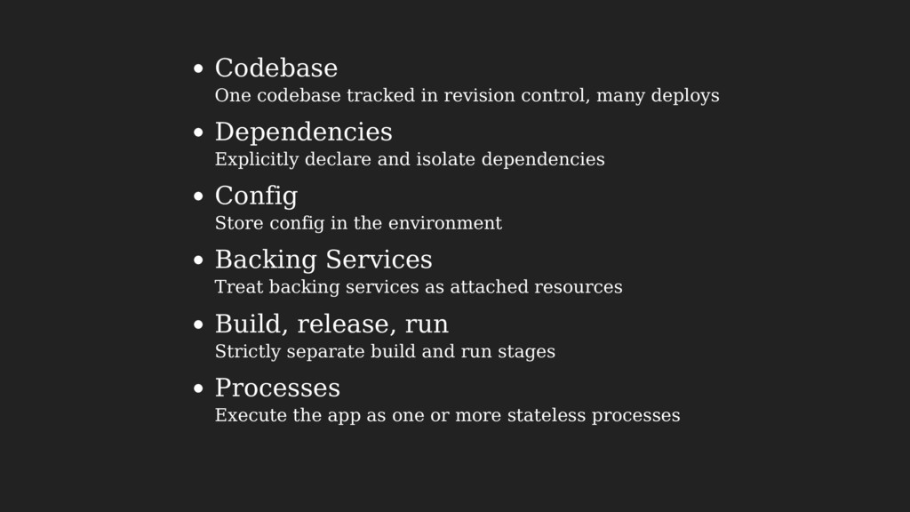 Codebase One codebase tracked in revision contr...