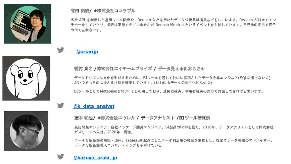 香村 貴之 /株式会社エイチームブライズ / データ見える化おじさん データドリブンな文化を形...