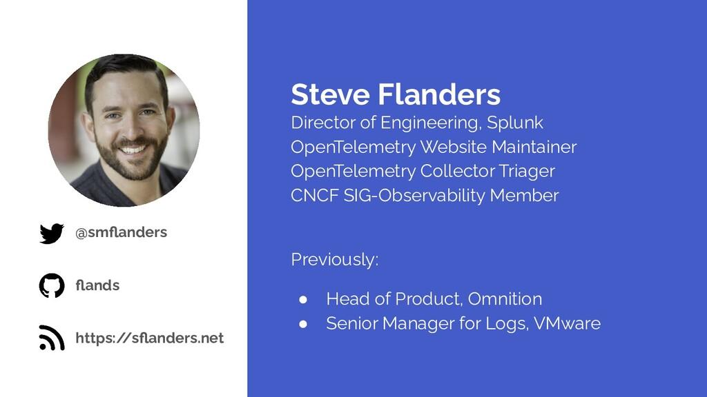 @smflanders flands https:/ /sflanders.net Steve Fl...