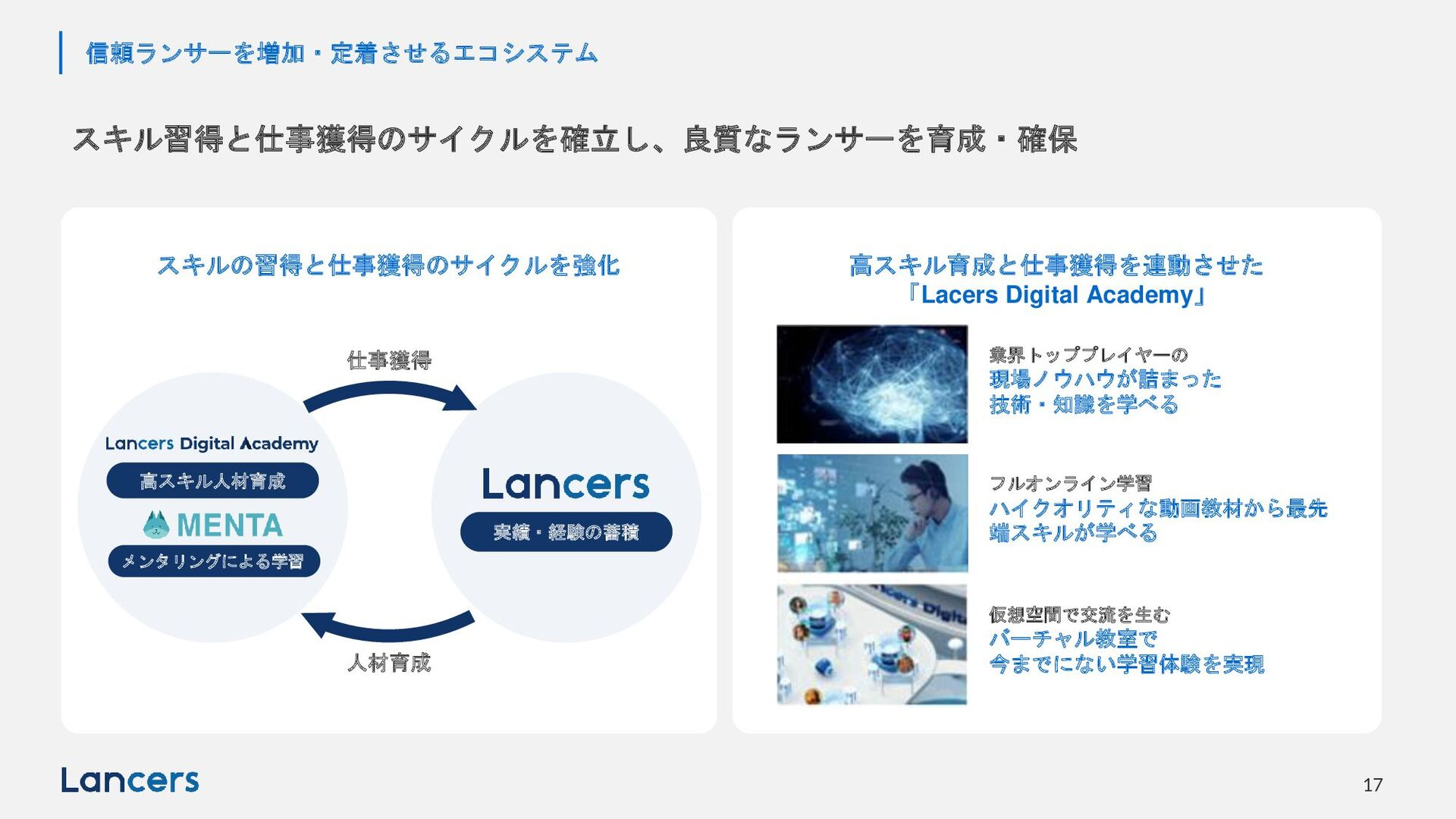 © LANCERS, Inc. All Rights Reserved 17 「信頼」できるラ...