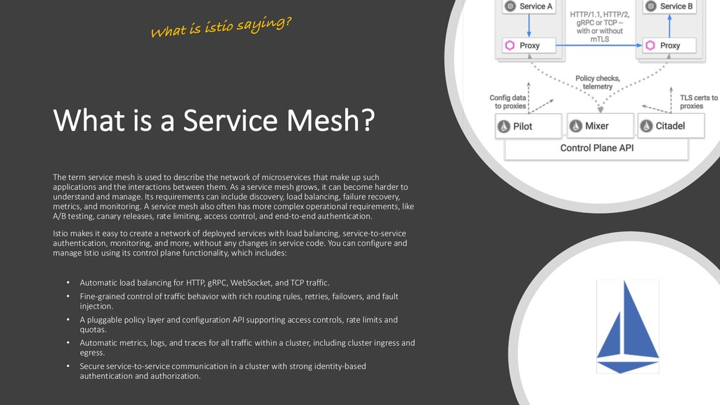 What is a Service Mesh? The term service mesh i...
