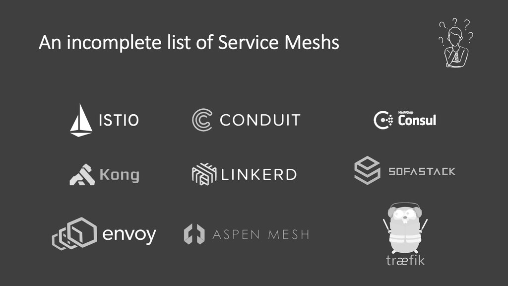An incomplete list of Service Meshs